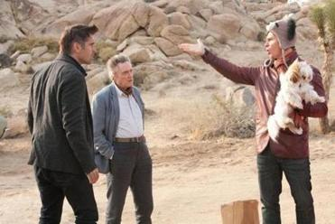 "From left: Colin Farrell, Christopher Walken, and Sam Rockwell star in ""Seven Psychopaths."""